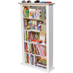 Media Storage Tower-Regular Single, 28 x 9-1/2 x 50, White
