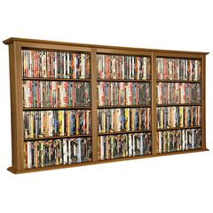Venture Horizon Wall Mounted Cabinet-Triple, 76 x 8-1/2 x 36-1/4, Oak