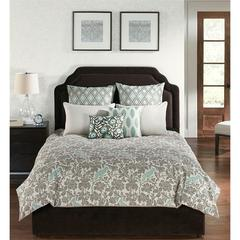 Camden Square Park 6 pc Queen Comforter With Filler Set, Blue/Gray