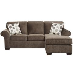Exceptional Designs by Flash Elizabeth Ash Microfiber Sofa Chaise