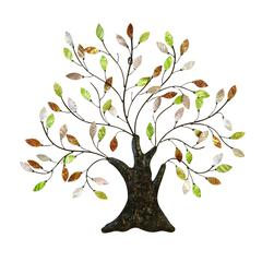 Benzara Metal Tree/Shell Leaves Anytime Wall Decor Upgrade Option