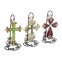 Benzara Metal Cross 3 Asst A Set Of Three