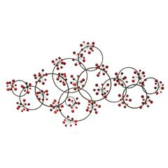 Benzara Metal Wall Decor Sculptured With Intrigued Circles
