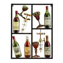 Metal Wine Decor Shows Style Of Life