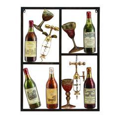 Benzara Metal Wine Decor Shows Style Of Life