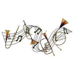 Benzara Metal Musical Inst Decor A Musical Wall Decor