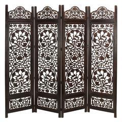 Benzara Wood Screen 4 Panel Best Of Decorative Protection