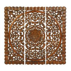 "Wall Art - Wood Wall Plaque Set/3 48""H, 48""W"