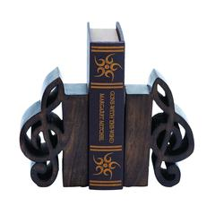 Benzara Book End Pair Adorned With Rich Finish