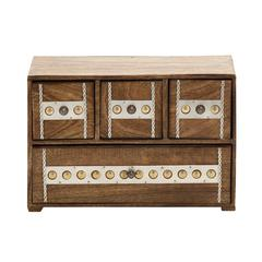 Benzara Unmissable And Cool Wood Box With Drawer