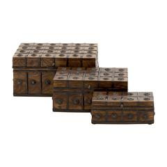Classy And Arty Wood Metal Box Set Of 3