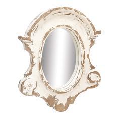 Benzara The Important Fiberglass Wall Mirror