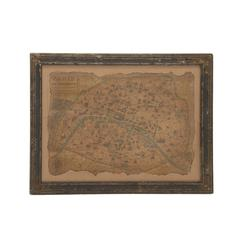 Unmissable And Cool Wood Framed Antique Map