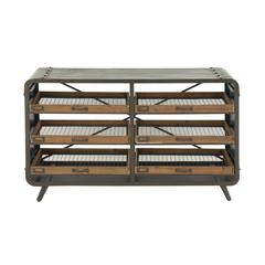 Benzara Splendid Metal Wood Console