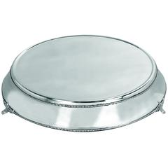 Benzara Stainless Steel Cake Plate With Silver Color