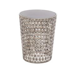 The Intricate Metal Glass Accent Table