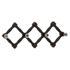 Benzara Cool And Distinctive Wood Glass Wall Hook