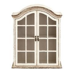 Traditional Looking Wood Metal Wall Cabinet