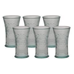 "Enthralling Set Of Six Glass Coca Cola 3""W, 6""H"