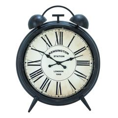 Benzara Corrosion Resistive Round Metal Clock With Antiqued Finish