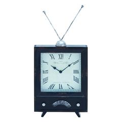 Benzara Clock With Distressed Finish On The Clock Dial
