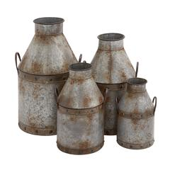 The Rustic Set Of 4 Metal Pots