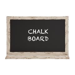 Benzara Attractive Styled Wood Blue Blackboard
