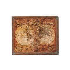 Benzara Simply Breathtaking Wood World Map Decor