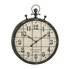 Benzara Captivating And Resilient Metal Wall Clock