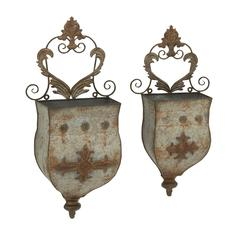 Benzara Set Of 2 Outstanding Metal Wall Planters
