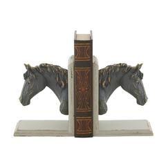 "Attractive Wood Ps Bookend Pr 7""W, 8""H"