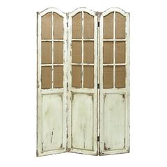 Benzara Simple And Elegant Folding Wooden Screen With Paneled Design