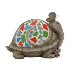 Benzara The Cutest Polystone Mosaic Turtle