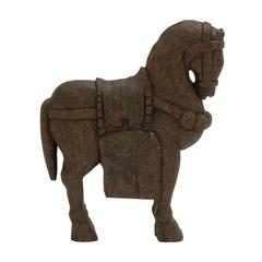 "Benzara Artistic Wood Carved Horse 14""W, 19""H"