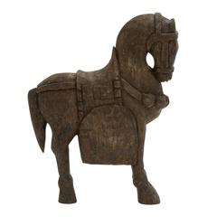 "Aesthetic Wood Carved Horse 10""W, 15""H"