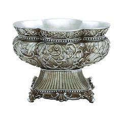 Benzara Calming Polystone Long Lasting Bowl With Intricate Detailing
