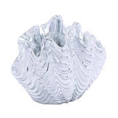 Benzara Elegant And Charming Polystone Sea Shell With Sparkling Texture