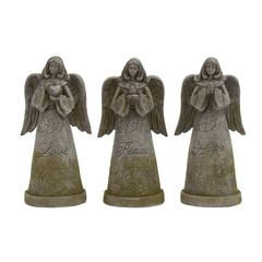 The Holy Polystone Garden Angel 3 Assorted
