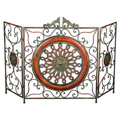 Metal Fire Screen A Stylish Fire Place Protection