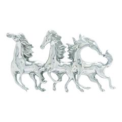 Benzara Magnificent And Majestic Aluminum Horse Wall Décor