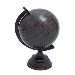 Benzara Unique Copper Finish Metal Globe (Small)