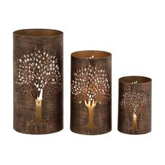 Benzara The Exceptional Set Of 3 Metal Tree Hurricane