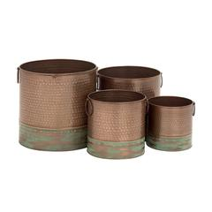 Simply Beautiful Metal Planter Set Of 4