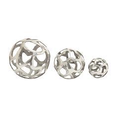 Cool Aluminum Decorative Ball Set Of 3