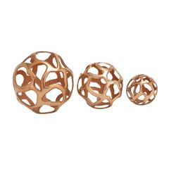 Lustrous Aluminum Decorative Ball Set Of 3