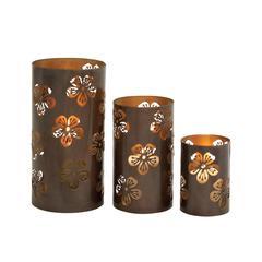 Benzara Stunning Set Of Three Metal Candle Holder