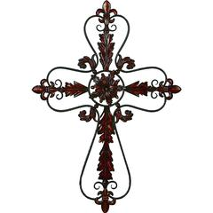 Flower Shaped Metal Wall Hanging
