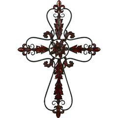 Benzara Flower Shaped Metal Wall Hanging