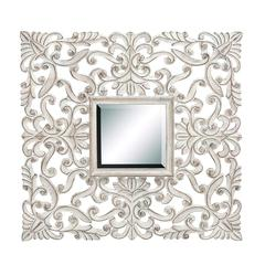Modern Style Mirror With Wooden Frame In Intricate Detail Work