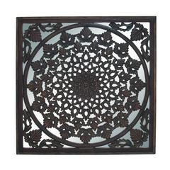 Benzara Charkhi Dadri Arty And Unique Wood Mirror Wall Panel